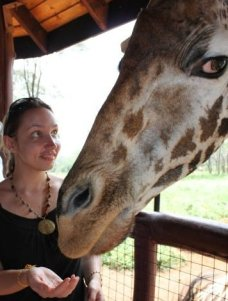 Giraffe and Karen